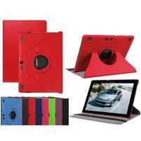 Otočné PU kožené puzdro na Lenovo Tab 3 10 Plus - červené