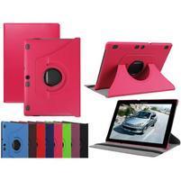 Otočné PU kožené puzdro na Lenovo Tab 3 10 Plus - rose