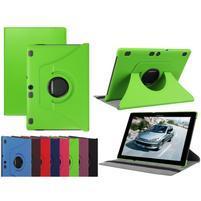 Otočné PU kožené puzdro na Lenovo Tab 3 10 Plus - zelené