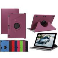 Otočné PU kožené puzdro na Lenovo Tab 3 10 Plus - fialové