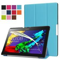 Trifold polohovateľné zapínacie puzdro na Lenovo Tab 3 10 Plus - modré