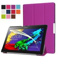 Trifold polohovateľné zapínacie puzdro na Lenovo Tab 3 10 Plus - fialové