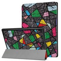 Emotive PU kožené puzdro na Lenovo Tab 4 10 - abstrakt