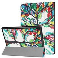 Emotive PU kožené puzdro na Lenovo Tab 4 10 - maľovaný strom