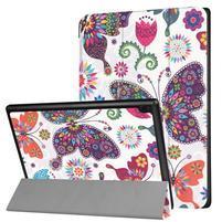 Emotive PU kožené puzdro na Lenovo Tab 4 10 - motýle