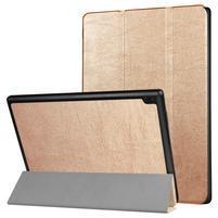 Trifold polohovacie puzdro na Lenovo Tab 4 10 - zlaté