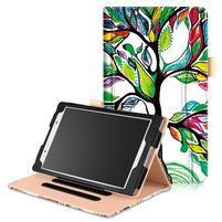 Emotive zapínacie puzdro na Lenovo Tab 4 8 - farebný strom