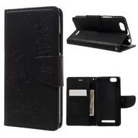 Butterfly knížkové puzdro pre mobil Lenovo Vibe C A2020 - čierne