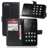 Grain peňaženkové puzdro pre mobil Lenovo Vibe C A2020 - čierné