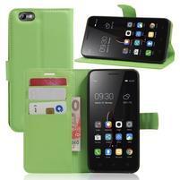 Grain peňaženkové puzdro pre mobil Lenovo Vibe C A2020 - zelené