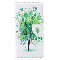 Emotive zapínacie peňaženkové puzdro na Lenovo C2 - zelený strom