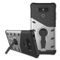 Defender odolný obal pre mobil LG G6 - strieborny