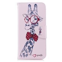 Emotive peňaženkové puzdro na mobil LG G7 - žirafa