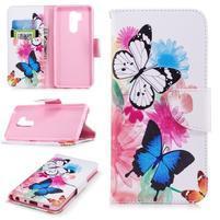 Emotive peňaženkové puzdro na mobil LG G7 - motýle