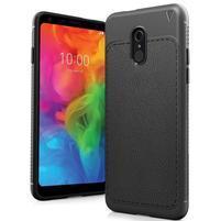 IVS odolný silikónový kryt s texturou na mobil LG Q7 - čierny