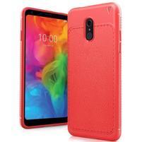 IVS odolný silikónový kryt s texturou na mobil LG Q7 - červený