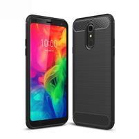 Fiber odolný silikónový kryt na mobil LG Q7 - čierny