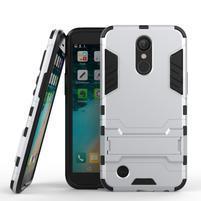 Defender odolný obal pre mobil LG K10 (2017) - strieborný