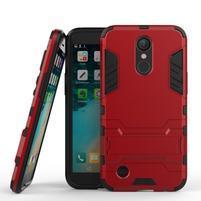 Defender odolný obal pre mobil LG K10 (2017) - červený