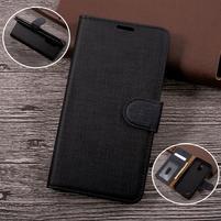 Clothy PU kožené puzdro pre mobil LG K4 (2017) - čierne