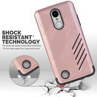 Hybridný odolný obal na LG K8 (2017) - ružovozlatý