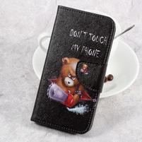 Emotive knižkové puzdro na LG K8 (2017) - nhnevaný medveď