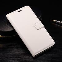 Wallet PU kožené zapínacie puzdro na LG Nexus 5X - biele