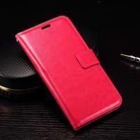 Wallet PU kožené zapínacie puzdro na LG Nexus 5X - rose