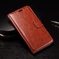 Wallet PU kožené zapínacie puzdro na LG Nexus 5X - hnedé