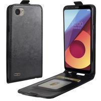 Flipové PU kožené puzdro na LG Q6 - čierne