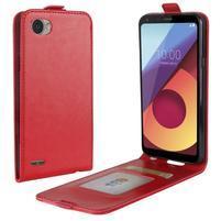 Flipové PU kožené puzdro na LG Q6 - červené