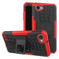 Outdoor odolné puzdro so stojanom na LG Q6 - červené