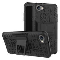 Outdoor odolné puzdro so stojanom na LG Q6 - čierne