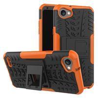 Outdoor odolné puzdro so stojanom na LG Q6 - oranžové
