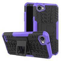 Outdoor odolné puzdro so stojanom na LG Q6 - fialové