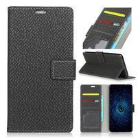 Texa PU kožené knižkové puzdro na LG Q8 - čierne