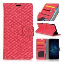 Texa PU kožené knižkové puzdro na LG Q8 - červené