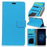 Texa PU kožené knižkové puzdro na LG Q8 - modré