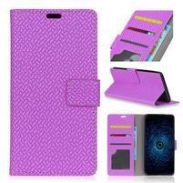 Texa PU kožené knižkové puzdro na LG Q8 - fialové
