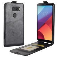Flipové PU kožené puzdro na LG V30 - čierne