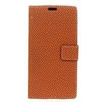 Cross PU kožené puzdro na mobil LG X Power 2 - hnedé