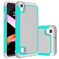 GT hybridný odolný obal pre mobil LG X Style - sivý/azurový