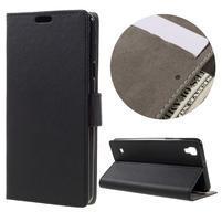 Wall PU kožené puzdro pre mobil LG X Style - čierné