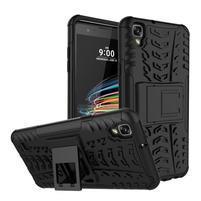 Outdoor odolný obal zo stojanom pre LG X Style - čierný
