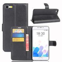 Graines knížkové puzdro pre mobil Meizu E2 - čierné