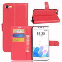 Graines knížkové puzdro pre mobil Meizu E2 - červené