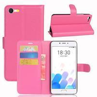 Graines knížkové puzdro pre mobil Meizu E2 - rose