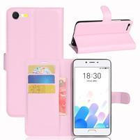 Graines knížkové puzdro pre mobil Meizu E2 - ružové