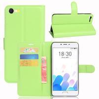 Graines knížkové puzdro pre mobil Meizu E2 - zelené