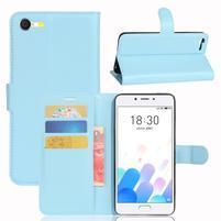 Graines knížkové puzdro pre mobil Meizu E2 - svetlomodré
